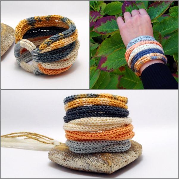 #kötött #karkötő #pasztell színben / #knitted #multi-strand #bracelet in #pastel colors