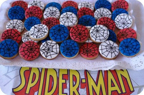 spiderman cookies luca