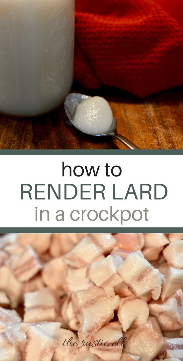 Lard gets a bad rap, but it's actually a healthy fat! You can use it for just about anything from making the best pastries on the planet to frying. Here is exactly how to render lard from pastured pigs using a crockpot.