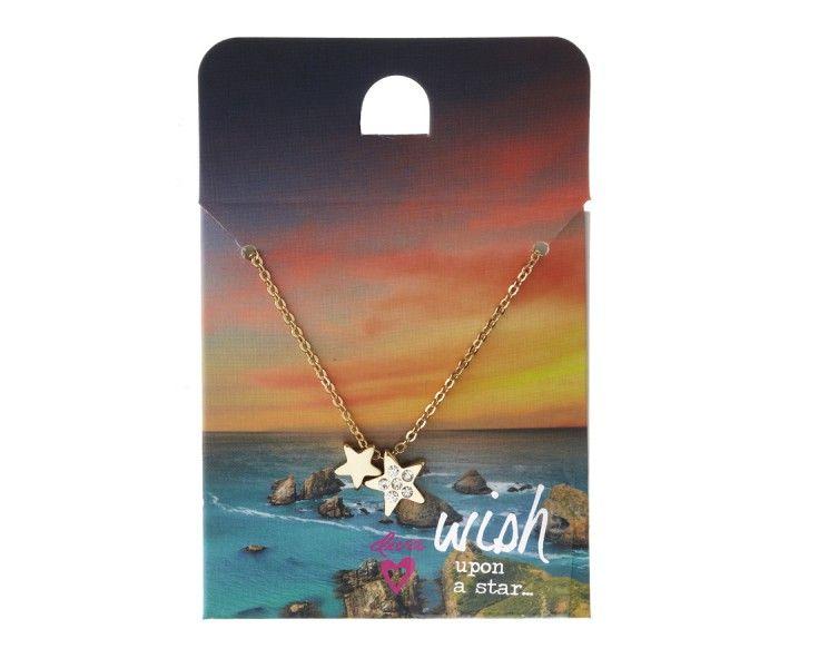 Gold & Diamante Wish Necklace from Diva #MacquarieCentre