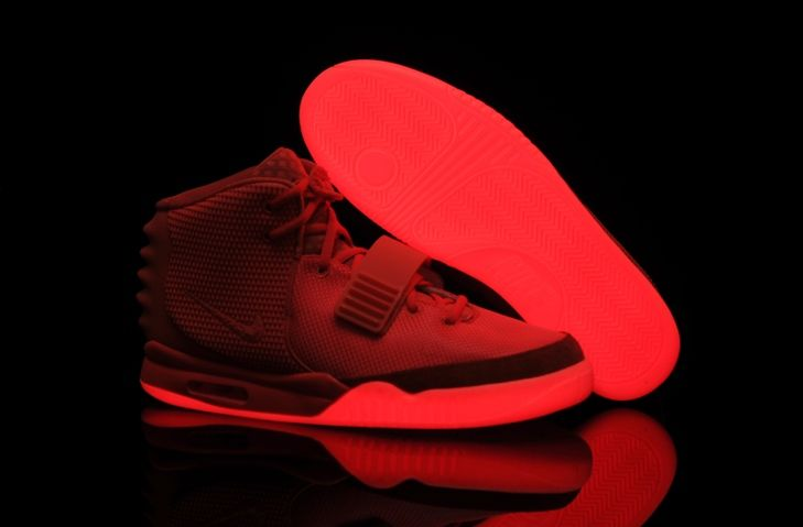 Nike Air Yeezy II 2 Red October Glowing Shoes for Sale
