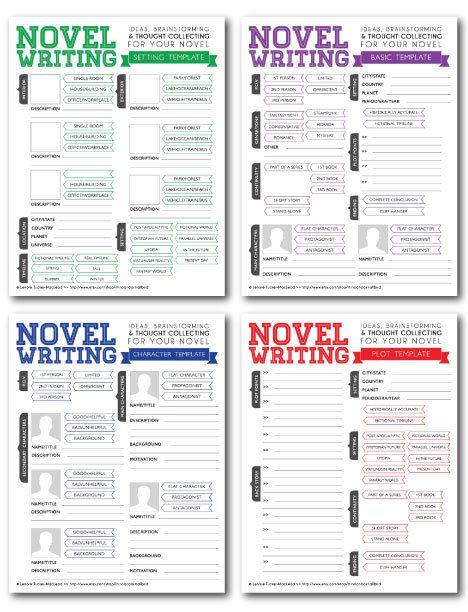 Character Design For Writers : Novel writing templates v character sheet tips and book