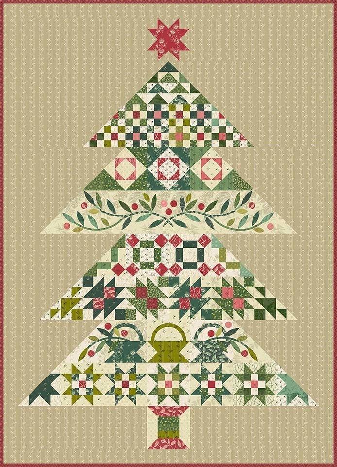 Tannenbaum Tree Edyta Sitar Laundry Basket Quilts Complete Fabric