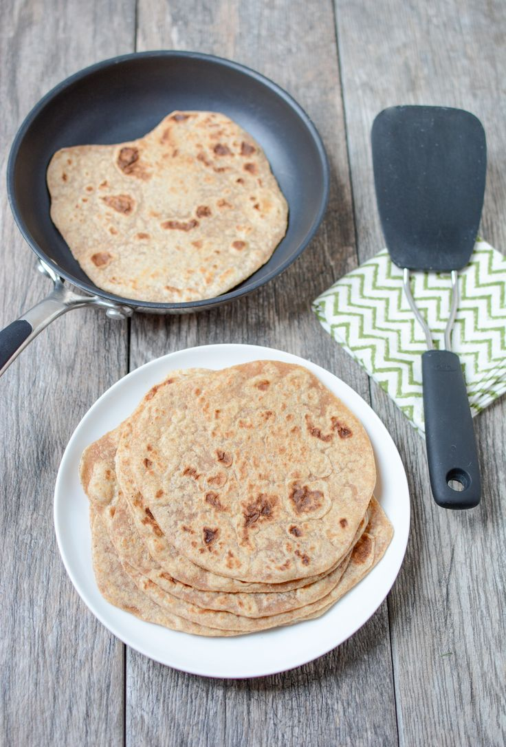 30 Minute Homemade 100% Whole Wheat Tortillas Recipe that tastes way better than store-bought and are super easy to make.