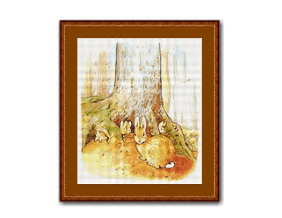"The Tale of Peter Rabbit #1 Cross Stitch Pattern / Chart, ""Once Upon A Time"", Beatrix Potter, Instant Digital Download,  (TPR001)"