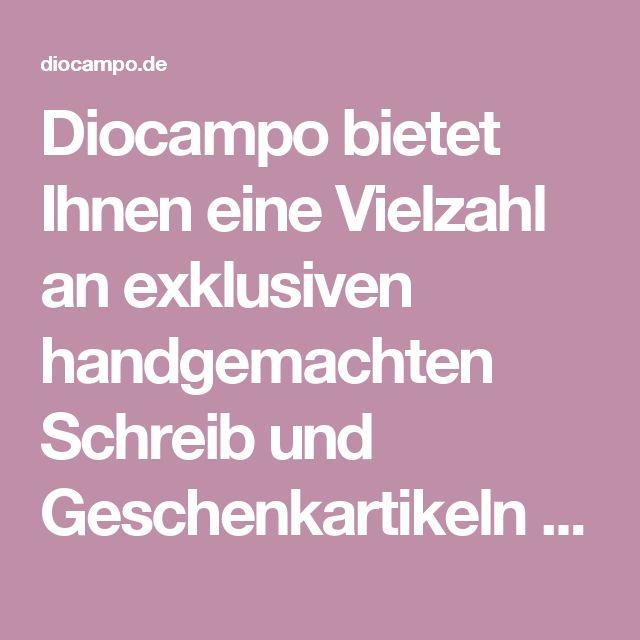 Diocampo bietet Ihnen eine Vielzahl an exklusiven handgemachten Schreib und Geschenkartikeln der Firmen Dallaiti und Giovanni Franco aus Italien. Außergewöhnliche Kalligraphie Sets und Füller der Firma Dallaiti.