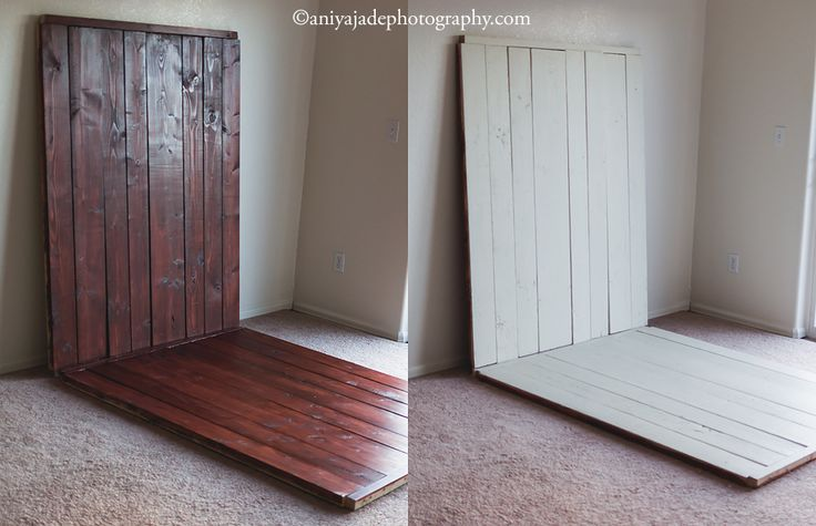 DIY Faux Wood Floor and Backdrop by Rachel Lewis of Aniya Jade Photography & Design