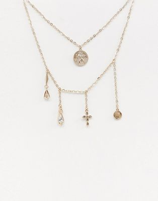 dd6e1413992c Liars   Lovers multi drop gold charm necklace in 2019