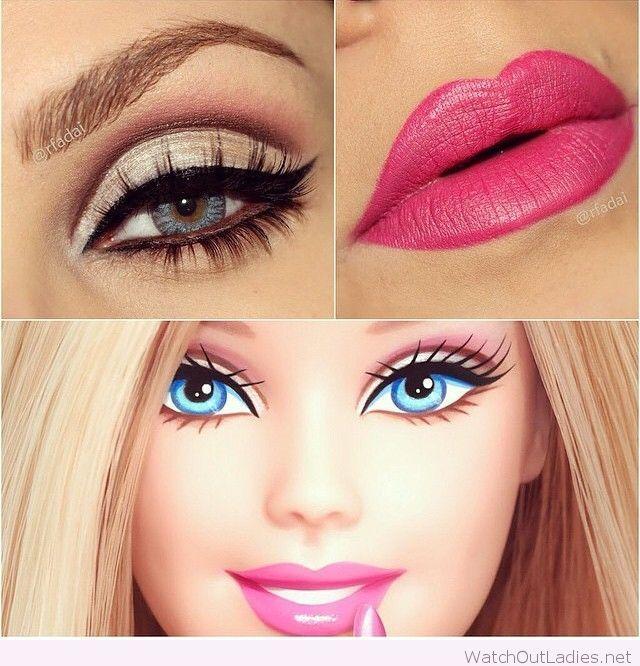 Halloween Barbie make-up