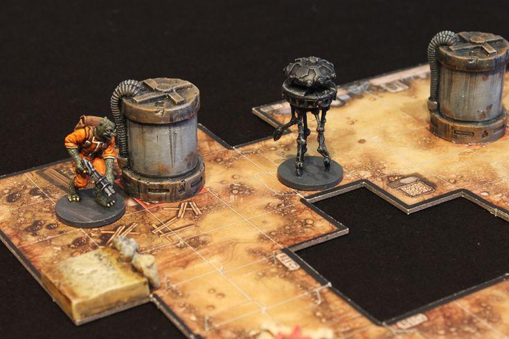 Nach den ersten Spielen Imperial Assault wurde es Zeit, neben bemalten Figuren, auch das Gelände etwas aufzuwerten. Ein paar schöne, passende 3-D Geländeteile hatte ich noch im Schrank,