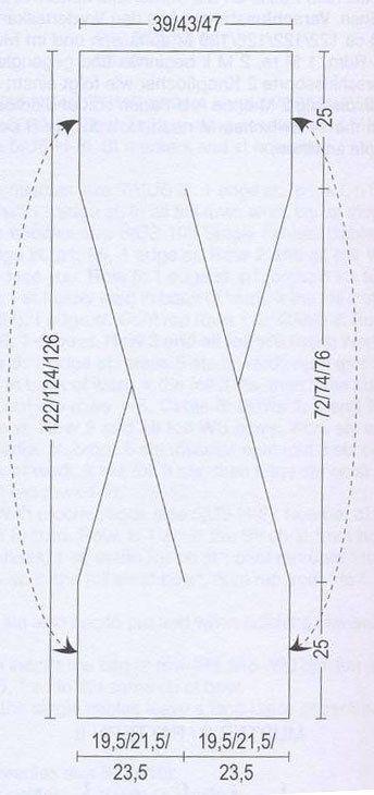 Ein Schema für das interessante Sommertop im nächsten Pin ... gefunden auf xobi.com.ua