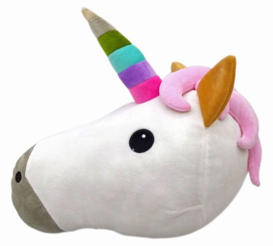 Amazon.com: Unicorn Unique Emoji Pillow Smiley Emoticon Cushion Stuffed Colorful Plush Toy 32cm: Toys & Games