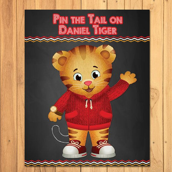 Its a Daniel Tiger Party!  Thank you for stopping by my store! I have for you here a Pin the Tail on Daniel Tiger Game - this item is a printable, digital Daniel Tiger Party Game, which means youll receive a digital file when you order. No physical item will be mailed to you.  I have several sizes included in this listing:  11 x 17 inches game (Tails on an 8.5x11 inch) 16 x 20 inches game (Tails on an 8.5x11 inch) 20 x 30 Inches game (Tails on an 8.5x11 Inch)  If youre looking for another…
