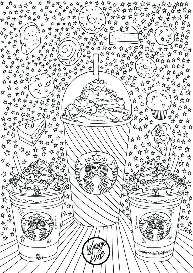 Starbucks Coffee Coloring Pages