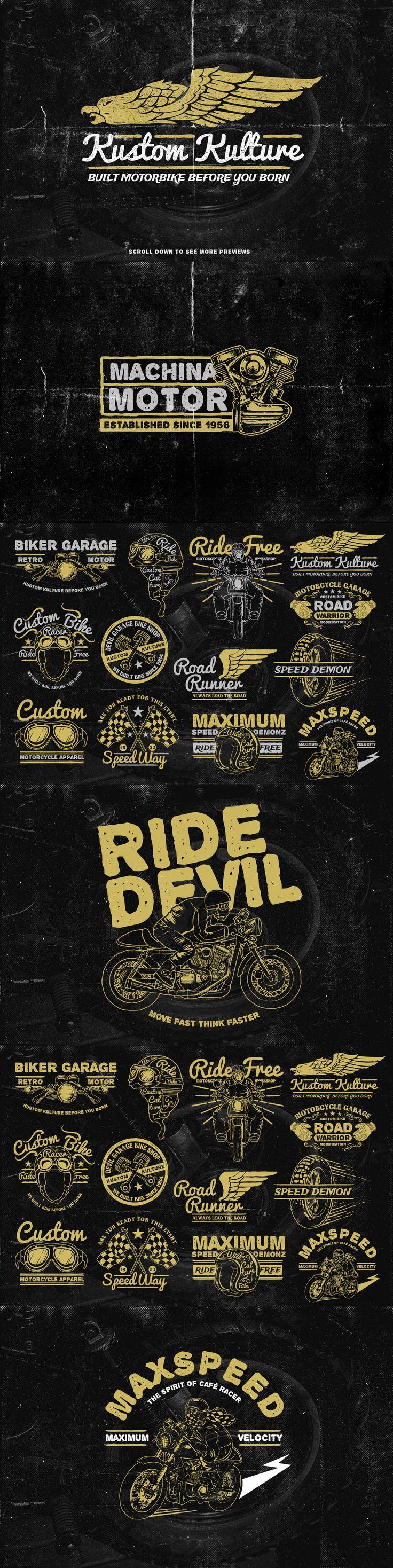 The Retro Bike + 20 Bonus by TSV Creative on Creative Market