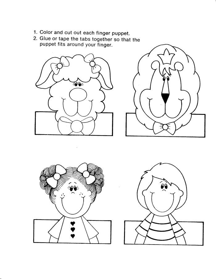 By the way, about Free Finger Puppet Templates, below we