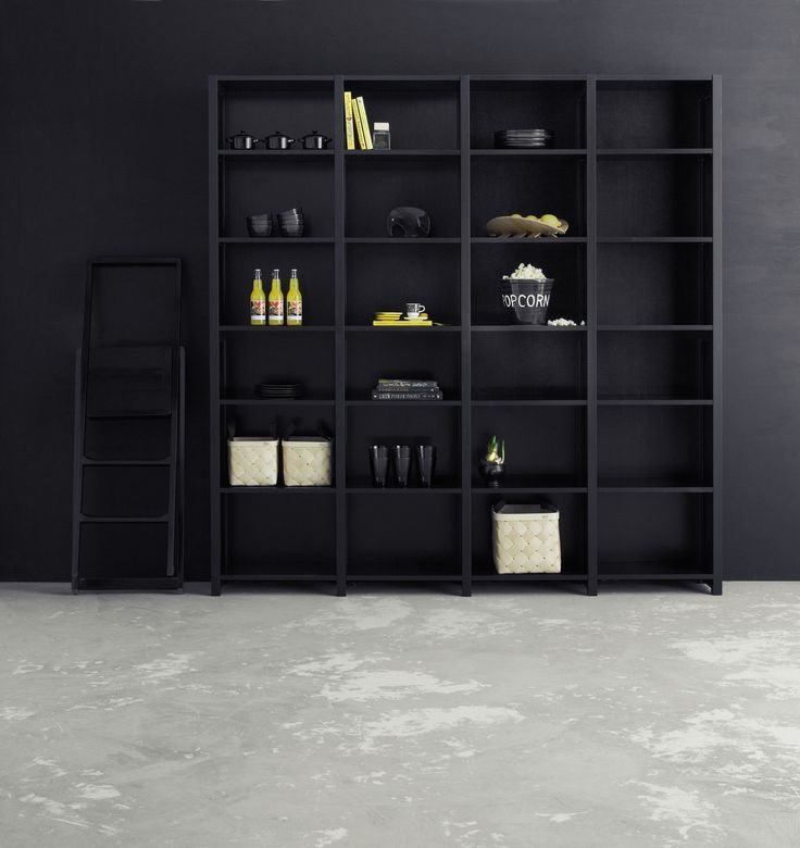Black on black.  Store your favourite stuff and stylish books in this beautiful simple shelf. You´ll find the Lundia Classic shelf in various colours and sizes. (Picture: Stockmann)