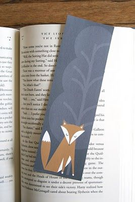 Free print-able fox bookmarks.  This isn't much of a craft, but if it gets you to use your scissors and gives you a feeling of accomplishment...you can call it a craft.
