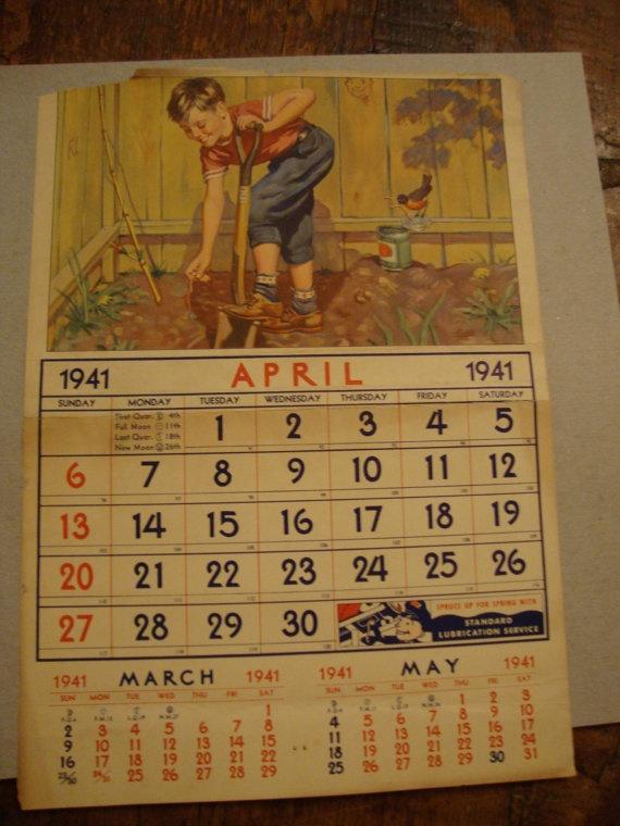 Vintage Calendar Art : Best images about old antique calendars on pinterest