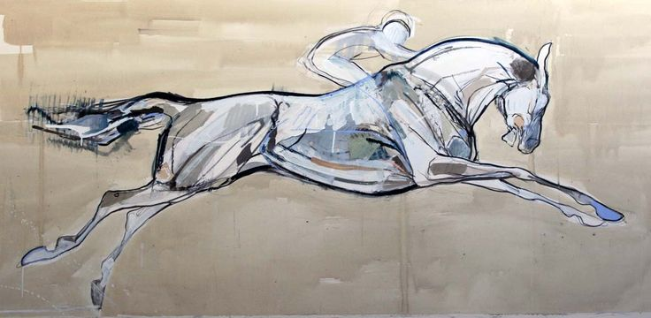 Kissing the Ground, Mixed media on paper, 27 x 58 in | Jo Taylor