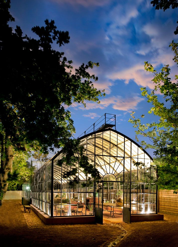 Conservatories & Greenhouses | A lit greenhouse makes for a perfect party location