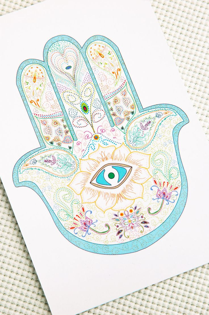 Hamsa gold hamsa paper cards turquoise authentic by maylanajuli