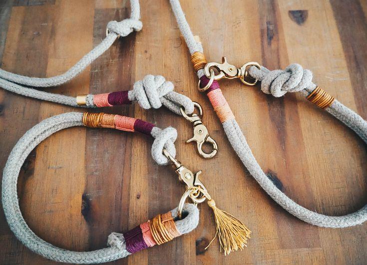 hund halsbänder  hundehalsband und leine aus hanftau