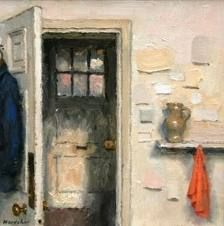 charles hardaker this also looks like an oil pantingand though this dooor it s showing anough door that is closed