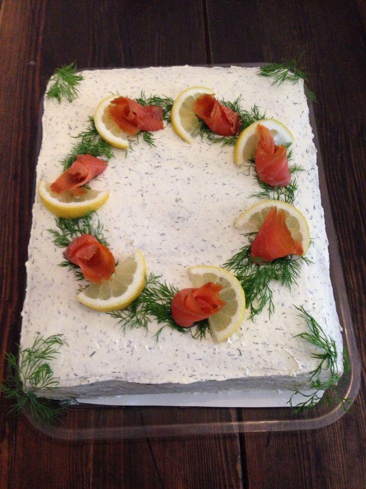 Voileipäkakku kala/ sandwich cake fish