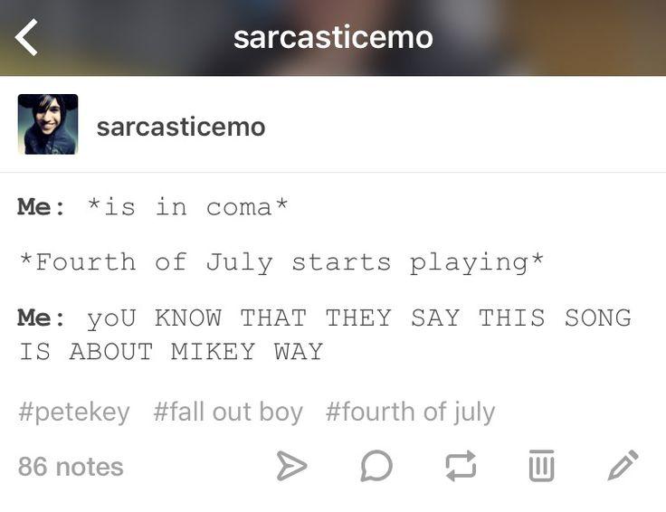Petekey, Fourth of July. SarcasticEmo