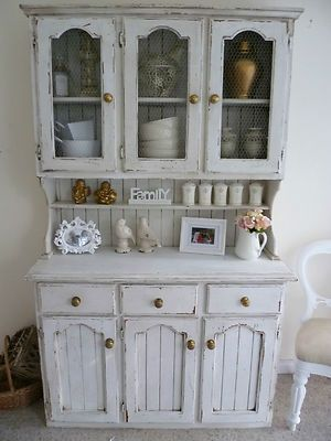 Off White Solid Timber Dresser Sideboard Hutch French Provincial Shabby Chic