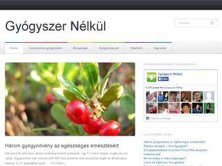 Csatlakozzanak oldalunkoz http://gyogyszernelkul.network.hu/