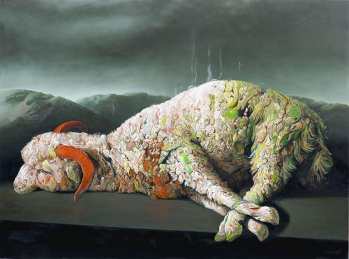 Glenn Brown -new version of the sacrificial lamb