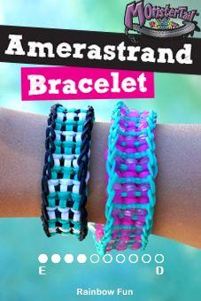 Amerastrand Raimbow Loom Bracelet Tutorial (on the Monster Tail)