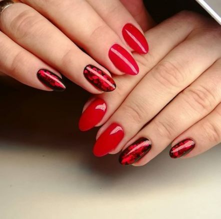 51+ Super Ideen für Nägel Herbstrot Winter – #ideas #nails #super #winter