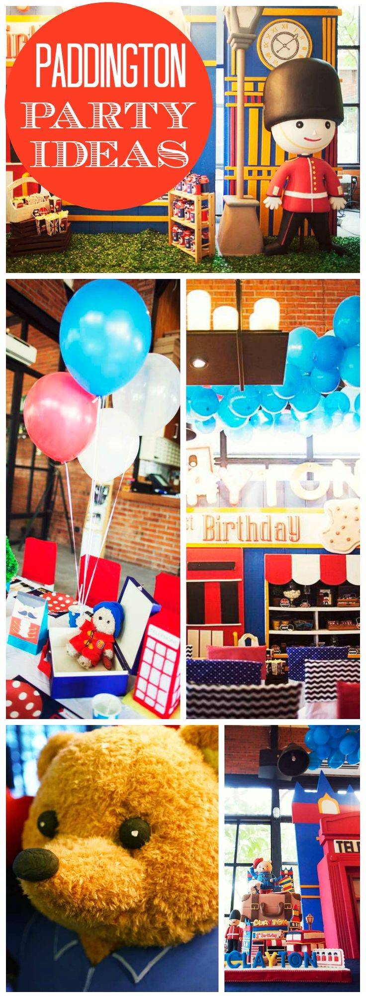Head to London with Paddington Bear for this party! See more party ideas at CatchMyParty.com!