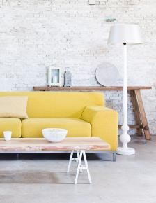 contemporary with yellow and grey
