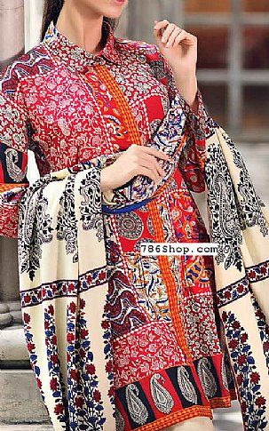 Red Linen Suit | Buy Gul Ahmed Pakistani Dresses and Clothing online in USA, UK