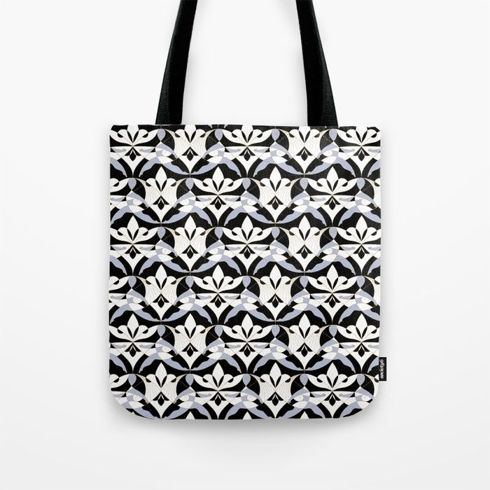 Get some sun on our oversized, Artist-designed Beach Towels. And if you're loving the print, it's also available as a Hand or Bath Towel.     #Woman #Girls #Cubism #Lady #girly #Sisterhood #Lis #Flower #Interwoven #Black #xenon #blue #Mia #society6 #Tote #Bag
