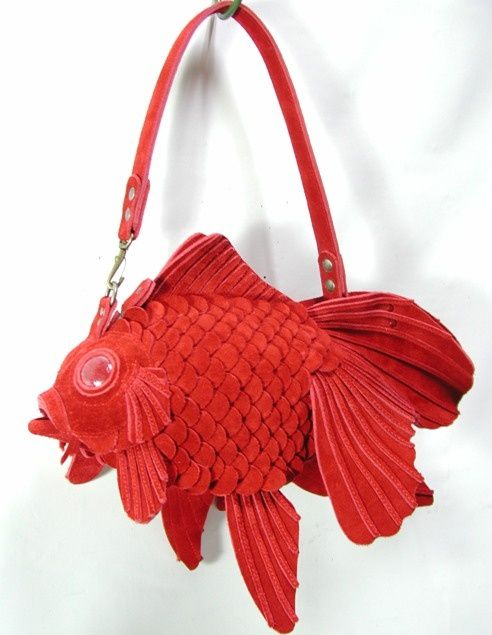 Unusual bag design unusual designs pinterest bags for Fish in a bag