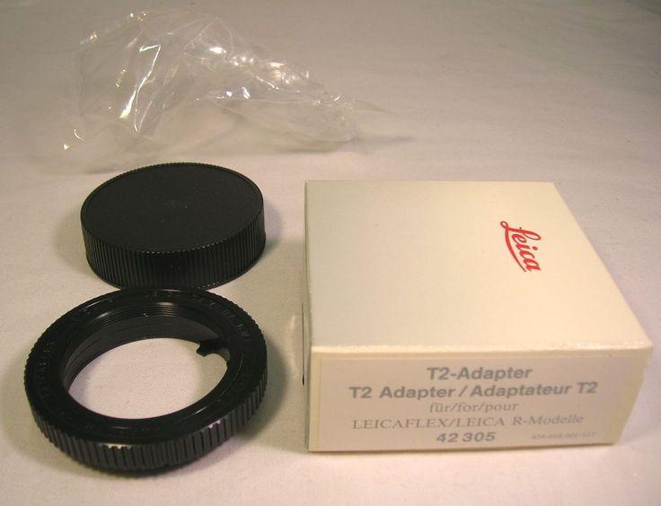 Mint Genuine Leica 42305 T2 Adapter For Leicaflex / Leica R W/ Cap & Box LOOK NR #Leica