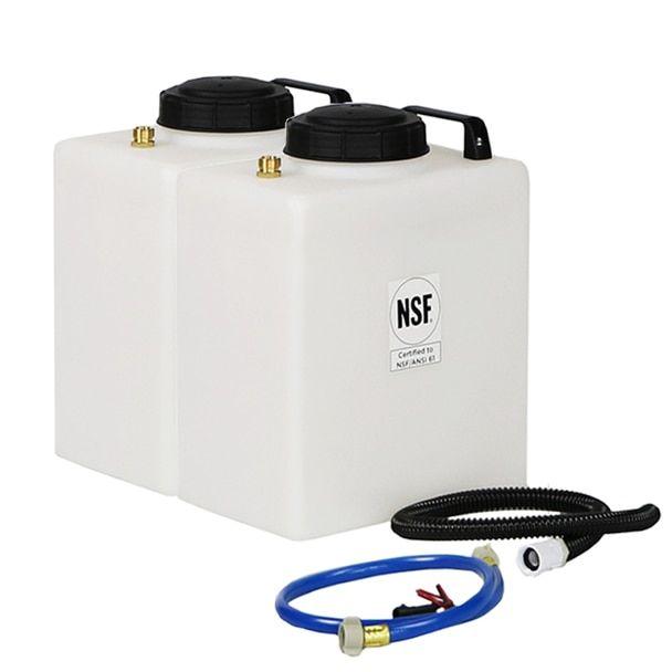 Superior Rv Portable Galley Fresh Water Grey Water Holding Tank Kit Fresh Water Fresh Water Tank Rv