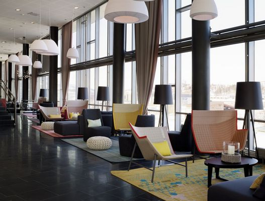 Forum chair, Jaume Torras' design for Indesign Living at the Rica Hotel, Narvik