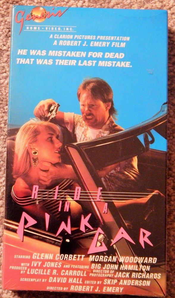 RIDE IN A PINK CAR (1988 THRILLER) VHS GLENN CORBETT, IVY JONES, MORGAN WOODWARD