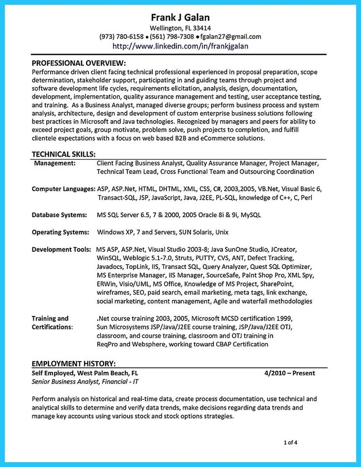 10 best Resume ideas images on Pinterest - marketing analyst resume