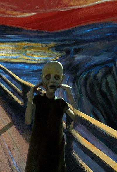 """""""El grito"""" de Edvard Munch ambientado y animado con música de Pink Floyd « Pijamasurf - Noticias e Información alternativa"""