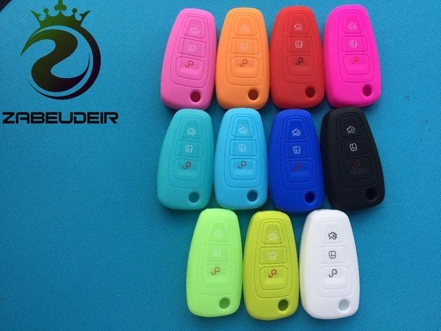 New Silicone Key Cover Case For Ford Focus 3 Mk3 4 Mk4 Fiesta Kuga