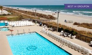 Groupon - Stay at Landmark Resort Hotel in Myrtle Beach, SC, with Dates into June in Myrtle Beach, SC. Groupon deal price: $35