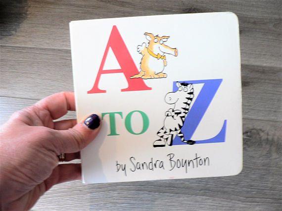 Sandra Boynton A to Z Board Book For Children  Alphabet Book