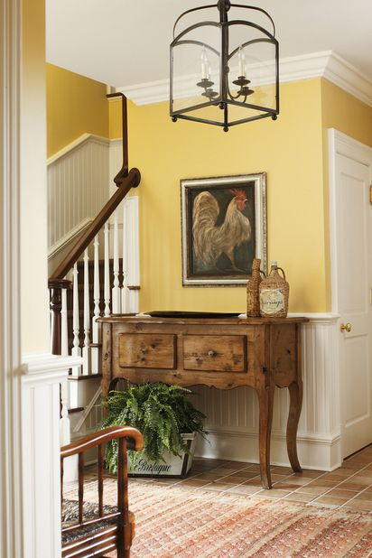 That Yellow Works Well With The Wood And Floor Textures. Our Yellow Will Be  A · Living Room Decor With Yellow WallsYellow ...